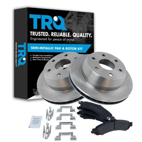 99-07 GM Full Size Truck Professional Grade Premium Posi Semi-Metallic Brake Pads & Rotor Set Rear