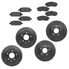 03-05 Infiniti G35; 03-05 Nissan 350Z Front & Rear Ceramic Brake SET