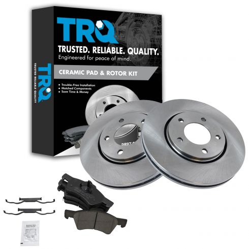 2001-07 Town & Country Grand Caravan Brake Pad & Rotor Kit Front Ceramic