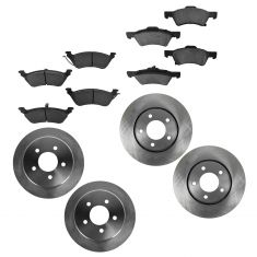 01-07 Chrysler Town & Country, Caravan, Grd Caravan Front & Rear Semi-Metallic Brake Pad & Rotor Kit