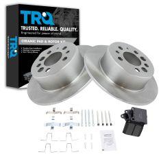 Rear Brake Rotor & Ceramic Pad Kit Volvo 240; 245; 260; 740; 940; 960