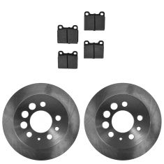 Rear Brake Rotor & Semi-Metallic Pad Kit Volvo 240; 245; 260; 740; 940; 960