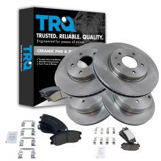 07-09 Equinox, Torrent, XL7; 08-10 Vue; 08-09 Vue Hybrid Front & Rear CERAMIC Brake Pad & Rotor Kit