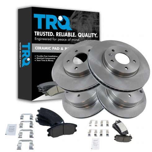 Rotors Ceramic Pads F 2007 2008 2009 Chevy Equinox OE Replacement