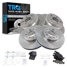 94-97 Volvo 850; 98-04 C70; 98-00 S70, V70 Front & Rear Ceramic Brake Pad & Rotor Kit