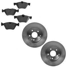 04-08 Crossfire; 03-07 MB C; 99-09 CLK; 96-02 E; 01-11 SLK Front Disc Brake Rotor & Ceramic Pad Set