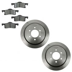 03-06 Ford Expedition; Lincoln Navigator Rear Brake Rotors & CERAMIC Brake Pad Kit