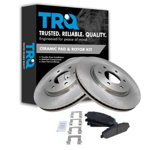 Front 350Mm Brake Rotors And Ceramic Pads For Infiniti QX56 Nissan Armada Titan