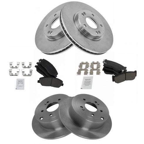 For 2007 2008 2009 HYUNDAI SANTA FE Front Quality Replacement Brake Rotors