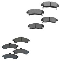 02-05 Rainer Ascender Envoy Trailblazer SSR Metallic Front & Rear Brake Pad Set