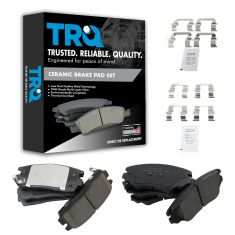 10-14 Equinox; 10-14 Terrain Front & Rear Ceramic Brake Pad Set