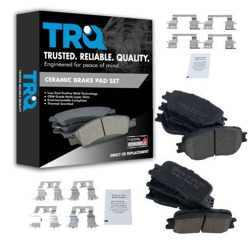 02-06 Toyota Camry VIN J Front & Rear Premium Posi Ceramic Brake Pad Set