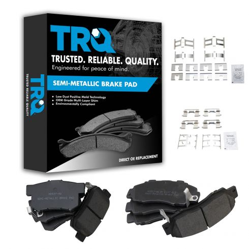 97-99 CL; 97-01 Integra; 95-98 TL; 91-02 Accord Front & Rear Premium Posi Metallic Brake Pad Set