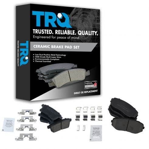 07-10 Edge, MKX; 07-12 CX7; 07-13 CX9 Front & Rear Ceramic Disc Brake Pads Kit (Set of 4)