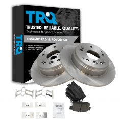 04-08 Acura TL; 03-11 Element Rear Premium Posi Ceramic Brake Pad & Rotor Set