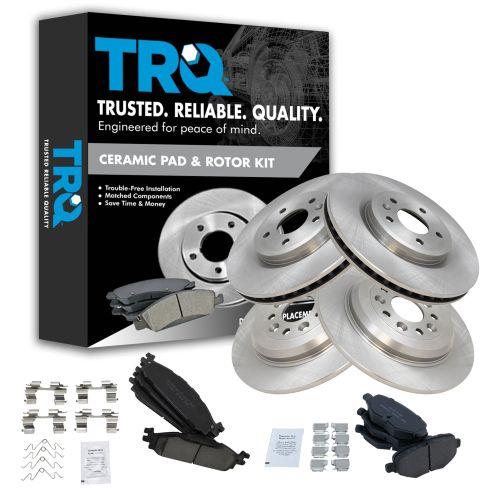 Front /& Rear Ceramic Brake Pads w//Hardware for Ford Flex Taurus Lincoln MKS MKT