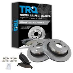 02-04 Dodge Ram 1500 Rear Ceramic Brake Pad & Rotor Kit