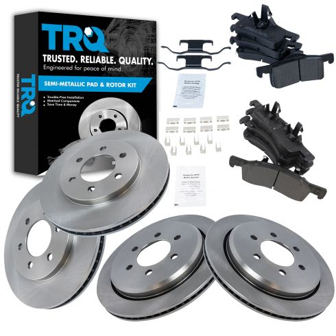 Front Rotors w//Ceramic Pads OE Brakes 2003-2006 Expedition Navigator