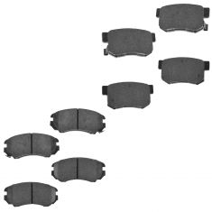 90-02 Accord; 02-13 Civic; 97-99 CL Front & Rear Premium Posi Ceramic Disc Brake Pads