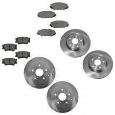 06-12 Toyota Rav4 with 3rd Row Seat Front & Rear Disc Brake Rotors with Ceramic Pads