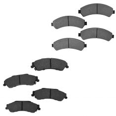 97-05 S10 Sonoma Blazer Jimmy 4WD Front & Rear Posi Semi-Metallic Disc Brake Pads