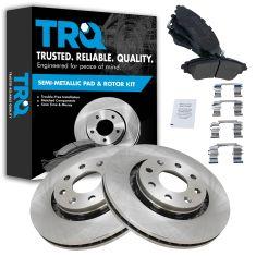 04-11 Aveo; 13-15 Spark; 09 G3 Swift Front Disc Brake Rotor Pair & Semi Metallic Pads