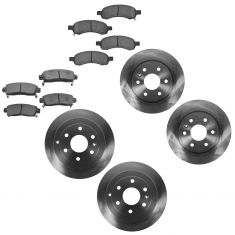 08-12 Enclave, Traverse, Acadia Front & Rear Brake Rotor & Ceramic Pad Kit