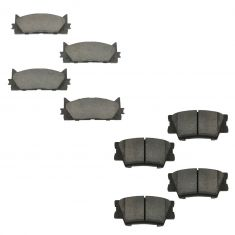 07-12 ES300; 08-12 Avalon; 07-11 Camry Front & Rear Ceramic Brake Pad Kit