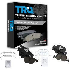 01-06 BMW 330CI, XI, I; 04-10 X3 Front & Rear Ceramic Brake Pad Set