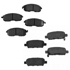 03-05 G35, 350Z; 09-13 Altima; 11-13 Juke Front & Rear Posi Ceramic Brake Pad Set