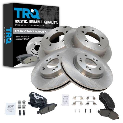 11-14 200; 07-10 Sebring; 07-14 Compass Front & Rear Ceramic Pad & Rotor Kit