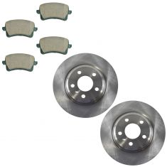 09-15 A4; 08-15 A5; 09-15 Q5 Rear Premium Posi Ceramic Brake Pad & Rotor Kit