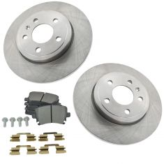 06-09 A4, A4 Quattro Rear Brake Rotor 288MM & Semi Metallic Pad Kit