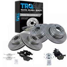 06-07 525XI; 08-10 528XI; 06-07 530XI; 08-10 535XI Front & Rear Ceramic Pad & Rotor Kit