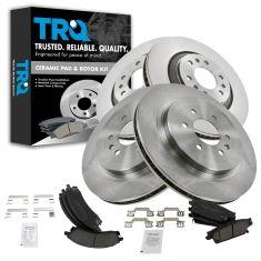 04-09 Cadillac SRX Front & Rear Ceramic Brake Pad & Rotor Kit