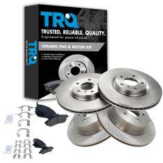 06-09 350Z; 0506 G35;06-07 M45 Front & Rear Premium Posi Ceramic Brake Pad & Rotor Kit