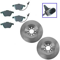 05-09 Audi A4 Front Ceramic Brake Pad & Rotor Kit