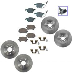 05-09 Audi A4 Front &  Rear Ceramic Brake Pad & Rotor Kit