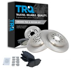 11-14 Ford Edge Rear Ceramic Brake Pad & Rotor Kit