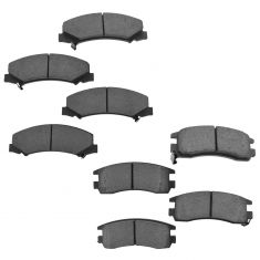 06-10 Impala; 06-07 Monte Carlo Front & Rear Ceramic Brake Pad Set