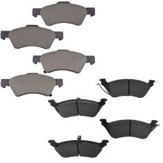 01-07 Town & Country, Caravan, Grand Caravan Front & Rear Metallic Brake Pad Kit