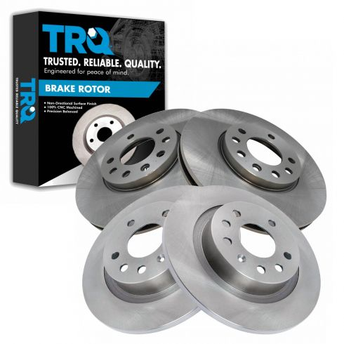 Front 285 mm And Rear 278 mm Quality Brake Disc Rotors For Saab 9-3 2.0T Linear