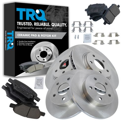 Front /& Rear Rotors Ceramic Pads 2004-2006 2007 2008 Chevrolet Malibu 4-Cyl