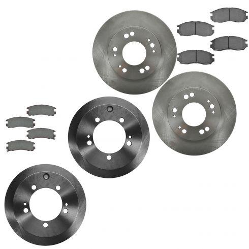 Nakamoto Rear Posi Ceramic Brake Pad /&Rotor Set Kit for Chrysler Sebring Eclipse