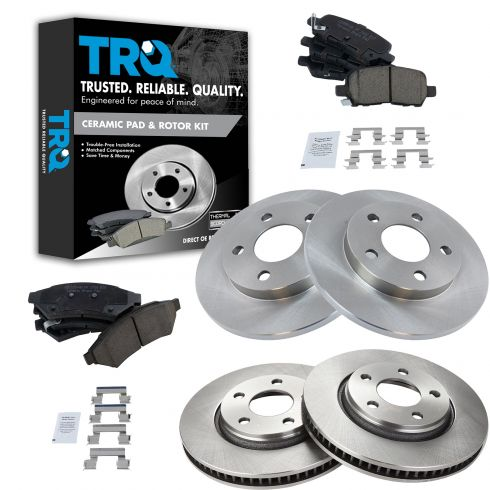 Front Rotors /& Ceramic Brake Pads Fits Buick Pontiac Allure Grand Prix LaCrosse