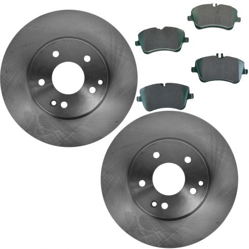 Nakamoto Brake Rotor Driver /& Passenger Side Front Pair for Mercedes C CLK SLK