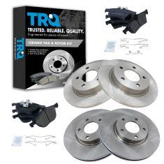 04-13 Mazda 3 2.3L, 2.5L; Front & Rear Ceramic Disc Brake Pads & Rotor Kit