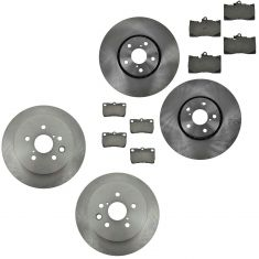 07-11 Lexus GS350; GS450H; GS460; IS350 Front & Rear Brake Ceramic Disc Brake Pad & Rotor Kit