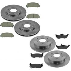 12-15 Armada; 11-15 Titan Front & Rear Posi Ceramic Brake Pad Set