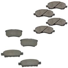 07-15 Jeep Dodge Chrysler Front & Rear Posi Ceramic Pad Kit